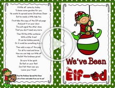Weve Been Efled---Freebie--First Grade and Fabulous Diy Christmas Gifts For Family, Christmas Decorations To Make, Christmas Crafts, The Elf, Clever Diy, Diy Tutorial, Diy Bedroom Decor, Crafty