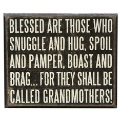 Grandmothers Wall Decor - putting this on my list for mother's day