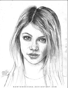sketch of a girl - Google Search