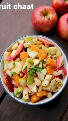 Fruit chaat recipe: how to make spiced fruit chaat masala recipe with step by step photo/video. sweet and savoury chaat recipe with the combination of finely chopped fruits. Veg Salad Recipes, Spicy Recipes, Snacks Recipes, Appetiser Recipes, Corn Recipes, Steak Recipes, Pasta Recipes, Indian Snacks, Healthy Breakfasts
