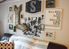 Rustic, Eclectic Gallery Wall with Washi Tape