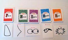 juego de cartas para dibujar caras
