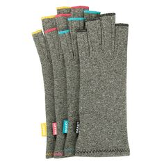 New at Ease Living! Our Popular Arthritis Compression Gloves with  Colored Stitching! Add a little flair to your drug free pain relief.