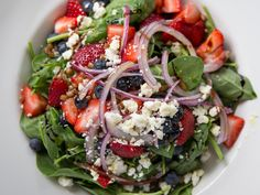 Strawberry Fields Salad at Glenmorgan Bar & Grill. Part of August's Grill & Chill $29 Three-Course Menu