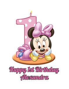 Minnie Mouse Girls 1st Birthday Edible Image Photo Cake Topper Sheet Personalized Custom Customized Birthday Party - 1/4 Sheet - 78608 * Review more details @ : Baking tools