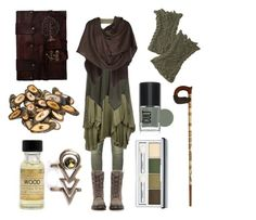 """""""Elemental Gnome"""" by maggiehemlock ❤ liked on Polyvore featuring Balmain, Object Collectors Item, 291, Dr. Martens, Portland General Store, Viktor & Rolf and Clinique"""