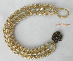 Flat Spiral Beaded Bracelet Seed Bead Bracelet Dressy Bracelet Wedding Bracelet
