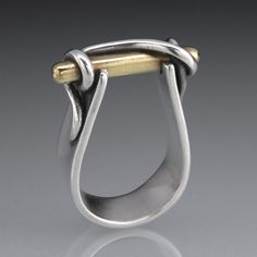 Lesley Messam,combine silver and gold metal clay ring