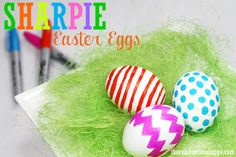 Sharpie Easter egg decorating | Kim Byers, TheCelebrationShoppe.com