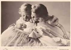 Children of King Umberto II of Italy, Maria Pia, Vittorio Emmanuele and Maria Gabriella