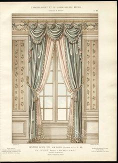 Pelmet...Dressing the Top of the Curtain...'Fenetre Louis XVI'