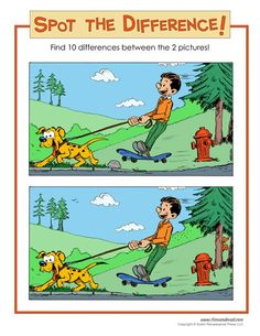 Brain teasers are a great game-based learning tool for student engagement. Enjoy these 45 language, math and visual brain teasers for kids - with answers! Spot The Difference Printable, Spot The Difference Puzzle, Find The Difference Pictures, Mind Puzzles, Maths Puzzles, Puzzles For Kids, Worksheets For Kids, Crossword Puzzles, Brain Teasers With Answers