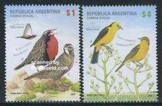 Estampillas Argentina  Aves