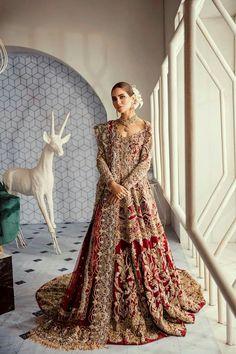 pakistanische Brautkleider - New Ideas - New Ideas Asian Bridal Dresses, Asian Wedding Dress, Indian Bridal Outfits, Pakistani Wedding Outfits, Pakistani Wedding Dresses, Indian Dresses, Wedding Hijab, Tulle Wedding, Bridal Wedding Dresses