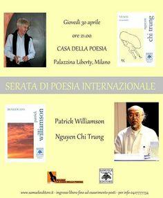 Casa della Poesia di Milano, giovedì 30 aprile - Patrick Williamson e Nguyen Chi Trung - SERATA DI POESIA INTERNAZIONALE