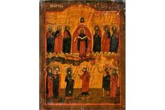 Bid Live on Lot 422 in the Art, Antiques, Collectibles Auction from Auktionshaus J. The Saleroom, Tempera, Religious Art, Christian, Icons, Traditional, Antiques, Painting, Russia