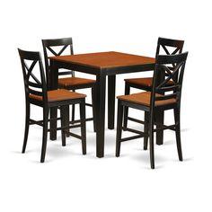 PBQU5-W / 5-piece Pub Table Set
