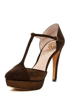 Vince Camuto Akido T-Strap Platform Pump by Vince Camuto on @HauteLook