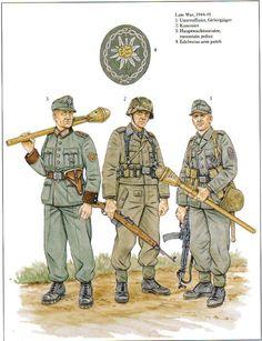 Gebirgsjagers 1944-1945.