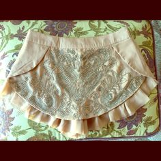 Free People Arizona Sequin Skirt Super cute shorts with sequin skirt overlay. Never been worn! Free People Shorts Skorts