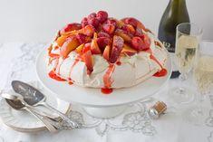 Strawberry + Peach Pavlova with Mascarpone » cake crumbs & beach sand