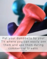 21 Inspirational Weight Loss Tips You've Probably Never Tried Dumbbell Workout, Healthy Weight Loss, Weight Loss Tips, Fitness Tips, Fitness Motivation, Fitness Plan, Exercise Motivation, Fun Workouts, Commercial Break Workout