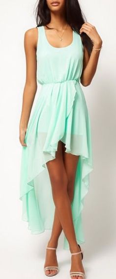 Mint Swallowtail Chiffon Dress so in right now. Very classy style. Is casual, but still very complimenting.