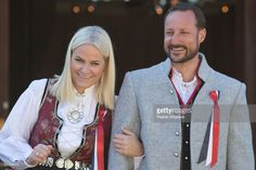 Crown Princess Mette-Marit of Norway and Crown Prince Haakon of Norway celebrate National Day on May 17, 2016 in Asker, Norway.  (Photo by Ragnar Singsaas/Getty Images)