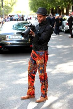 Karl Edwin Guerre. Pants!  MFW street style - Vogue.it