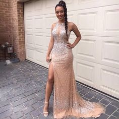 Halter Mermaid Prom Dresses,Long Prom | sparkledress Beaded Prom Dress, Mermaid Prom Dresses, Cheap Prom Dresses, Formal Dresses For Women, Dress For You, Evening Dresses, Gowns, Style, Fashion