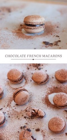 Chocolate French Macaroons | Have you ever wanted to try making french macarons? This is an awesome recipe for Chocolate French Macarons with step-by-step instructions.
