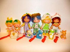 Vintage Strawberry Shortcake, Cafe Ole and Burrito Donkey, Mint Tulip and Marshland Mallard, Crepe Suzette and Eclair Poodle, Almond Tea and Marza Panda, Lem and Ada and Sugar Woofer