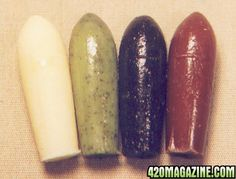 Cannabis suppositories... yes really. Even I think this is funny. But, it is for medical use not to get high on. lol.