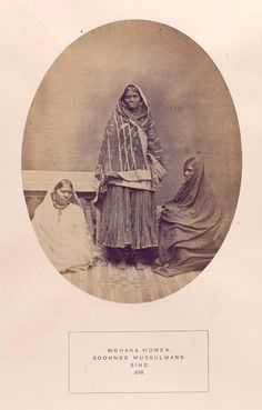Mohana women, Soonnee Mussulmans, Sind. 1872 The people of India : A series of photographic illustrations