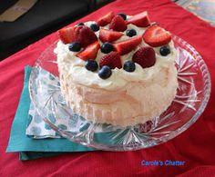 Carole's Chatter: Pavlova – the cheat's way Strawberry Blueberry, Vanilla Essence, Pavlova, Food Festival, Cheating, Icing, Berries, Cheesecake, Pudding