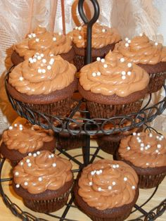 Happy Blogoversary!!! Chocolate Cherry Cupcakes with Chocolate Buttercream Frosting - Will Cook For Smiles