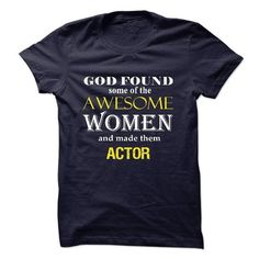 Awesome Actor WoMen T Shirts, Hoodies Sweatshirts. Check price ==► http://store.customtshirts.xyz/go.php?u=https://www.sunfrog.com/No-Category/Awesome-Actor-WoMen.html?41382