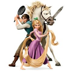 Disney-Clipart.com ❤ liked on Polyvore featuring disney, tangled, characters, couples and backgrounds