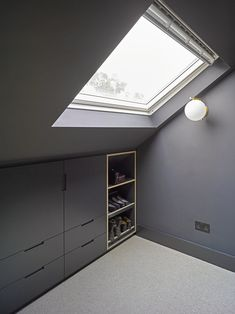 Well Lane Home by Mulroy Architects Traditional single family house located in London, UK, redesigned by Mulroy Architects. Loft Storage, House, Home, Loft, Bedroom Design, Bedroom Built Ins, Loft Spaces, Loft Conversion Bedroom, Attic Bedroom Designs