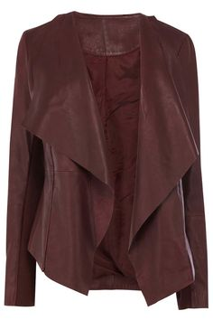 Women burgundy color real leather jacket women by Myleatherjackets, $159.99