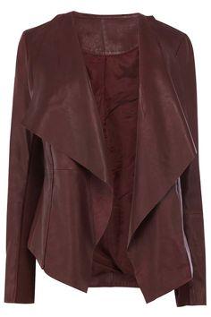 Women Maroon color real leather jacket women by Myleatherjackets, $159.99