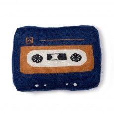 Cuscino Audiocassetta Blu indaco