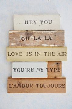 wood and word sign