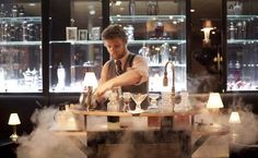 Cocktails served from revolvers, nitro-drinks made right at your table. This place looks so cool!