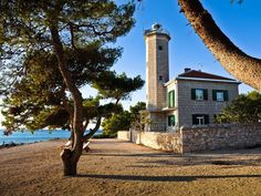Offering a private beach area, a hot tub and a sauna, Villa Lanterna is a self-catering accommodation located in Vir. Vir Croatia, Villa, Good House, Coastal, Beautiful Places, Island, Beach, Water, Plants