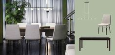 BJURSTA brown-black extendable table seats 6-8 and PREBEN chairs with light grey cover