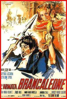 """Brancaleone da Norcia (Vittorio Gassman) """"Oh, gioveni! Quando vi dico sequitemi miei pugnaci, dovete sequire et pugnare! Poche conte! Se no qui stemo a prenderci per le natiche."""" L'Armata Brancaleone (1966)"""