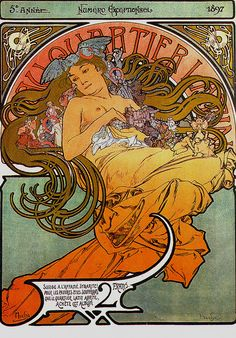 Mucha 1897 Latin Quarter magazine by mpt.1607, via Flickr.............I have the 4 seasons by Mucha  need get them framed ~SR