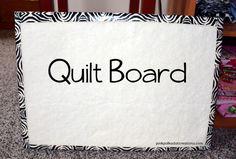 Quilt Design Board -