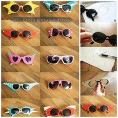 DIY party sunglasses / 27 Inspired ways to decorate your sunglasses